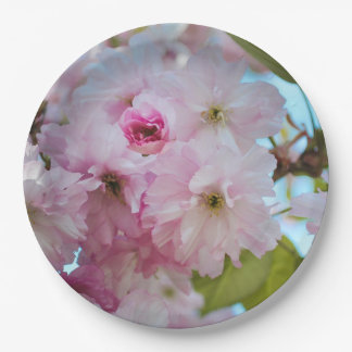 Pink Cherry Blossom Spring Easter Dinner Plate 9 Inch Paper Plate