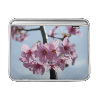 Pink cherry blossoms and light-blue sky sleeve for MacBook air