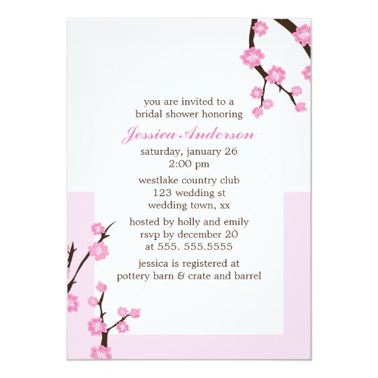 Pink Cherry Blossoms Card