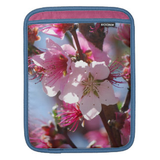 Pink Cherry Blossoms Sleeve For iPads
