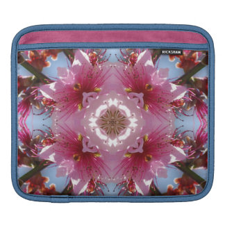 Pink Cherry Blossoms Kaleidoscope Sleeves For iPads