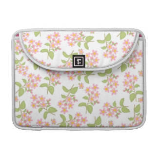 Pink Cherry Blossoms Rickshaw Flap Sleeve MacBook Pro Sleeve