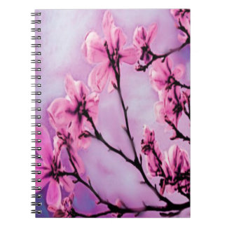 Pink Cherry Blossoms Spiral Notebook