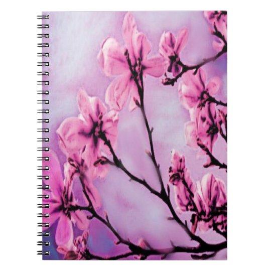 Pink Cherry Blossoms Spiral Notebook