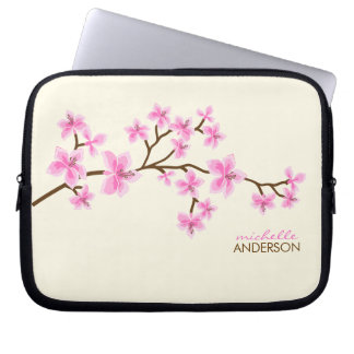 Pink Cherry Blossoms Tree Computer Sleeves