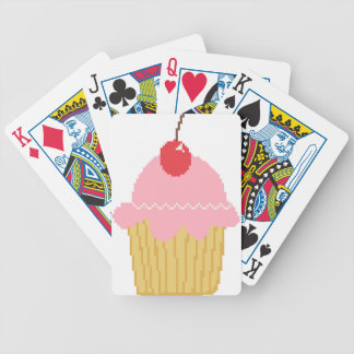 pink cherry cupcake bicycle playing cards