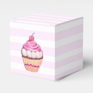 Pink Cherry Cupcake Box Wedding Favour Boxes