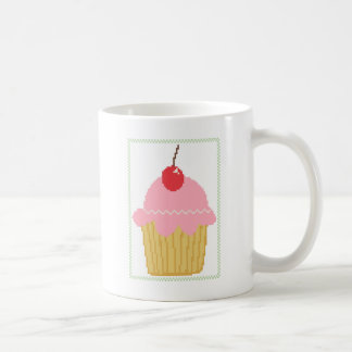 pink cherry cupcake coffee mug