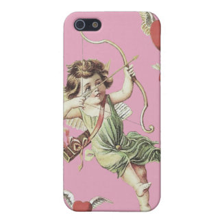 Pink Cherub Cupid Heart Bow Arrows iPhone 5 Cover