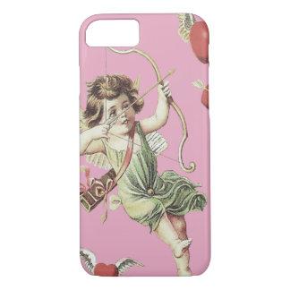 Pink Cherub Cupid Heart Bow Arrows iPhone 7 Case