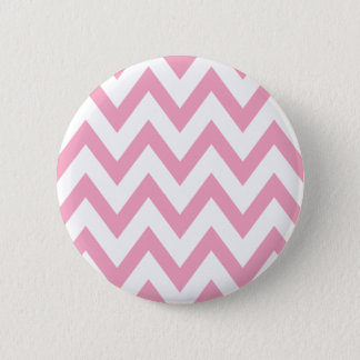 Pink Chevron 6 Cm Round Badge