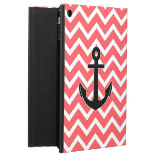 Pink Chevron Anchor Cover For iPad Air