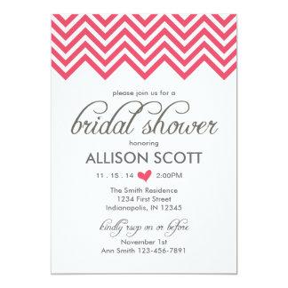 Pink Chevron Bridal Shower Invitation