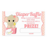 Pink Chevron Elephant Diaper Raffle Tickets 100pk Pack Of Standard Business Cards