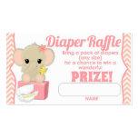 Pink Chevron Elephant Diaper Raffle Tickets 100pk Pack Of Standard Business Cards