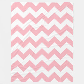Pink Chevron Fleece Blanket