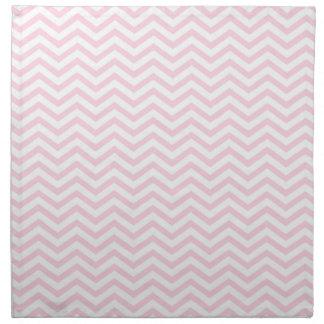 Pink Chevron Girly Pattern Napkin