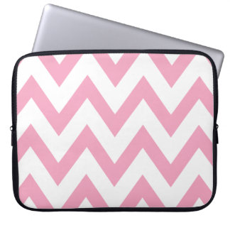 Pink Chevron Laptop Computer Sleeves