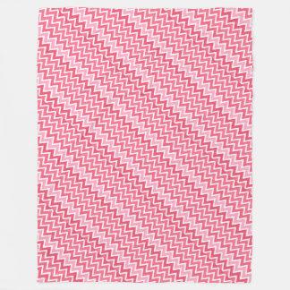 Pink Chevron Large Fleece Blanket