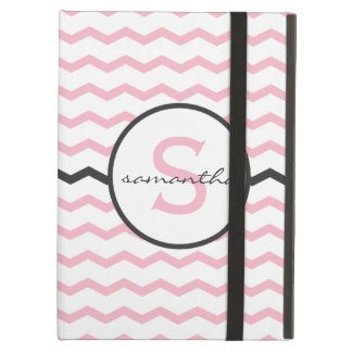 Pink Chevron Monogram iPad Air Cases