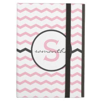Pink Chevron Monogram iPad Folio Case