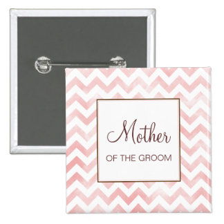 Pink Chevron Mother of the Groom Button