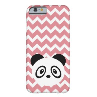 Pink chevron panda barely there iPhone 6 case