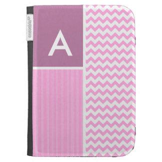 Pink Chevron Pattern Kindle 3G Case
