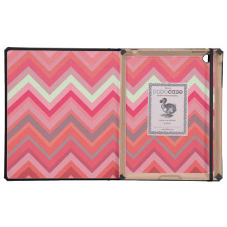 Pink Chevron Pattern IPAD 2 3 Dodo Book Case iPad Cover