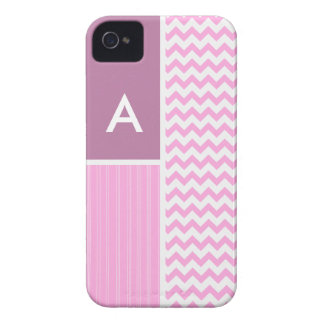 Pink Chevron Pattern iPhone 4 Case