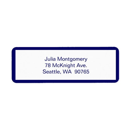 Pink Chevron Return Address Label