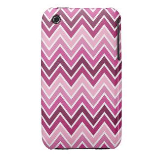 Pink Chevron Stripe iPhone 3 Cases