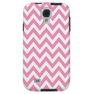 Pink Chevron Zigzag Stripes Galaxy S4 Case
