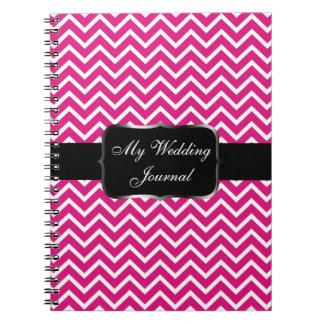 Pink Chevron Zigzag Stripes Notebook