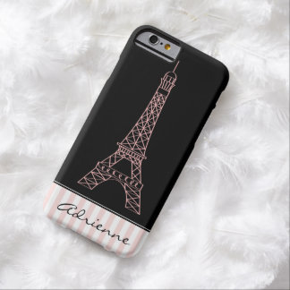 Pink Chic Paris Eiffel Tower Barely There iPhone 6 Case