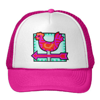 Pink Chicken Crossing Weathervane Arrow Cap