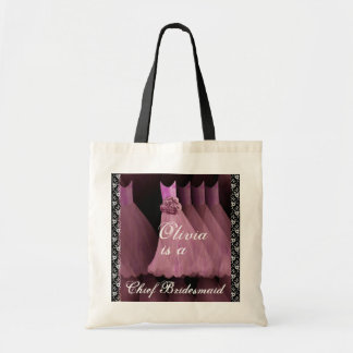 PINK Chief Bridesmaid Cotton Tote Bag