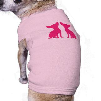 Pink Chihuahua cute pet dog t-shirt, gift idea Sleeveless Dog Shirt