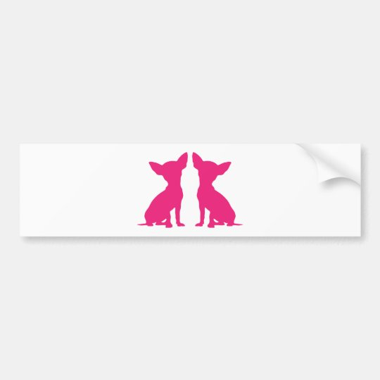 Pink Chihuahua dog cute bumper sticker, gift idea
