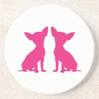 Pink Chihuahua dog cute coaster, gift idea Drink Coasters