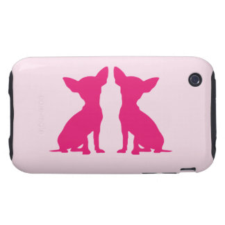 Pink Chihuahua dog cute iPhone 3G mate case, gift iPhone 3 Tough Cover