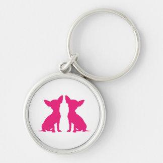 Pink Chihuahua dog cute keychain, gift idea Key Ring