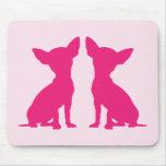 Pink Chihuahua dog cute mousepad, gift idea