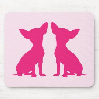 Pink Chihuahua dog cute mousepad, gift idea Mouse Mat