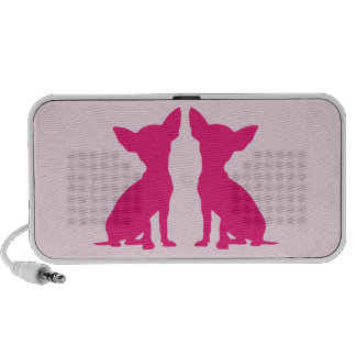 Pink Chihuahua dog cute portable doodle speakers