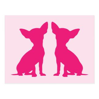 Pink Chihuahua dog cute postcard