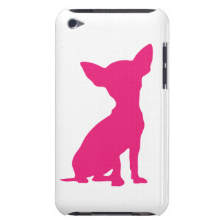 Pink Chihuahua dog cute silhouette gift Barely There iPod Cases