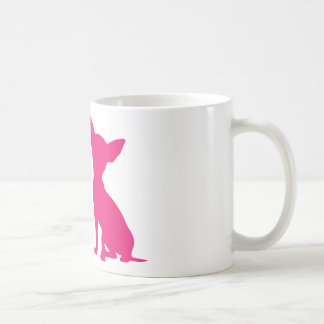 Pink Chihuahua dog cute silhouette mug, gift idea