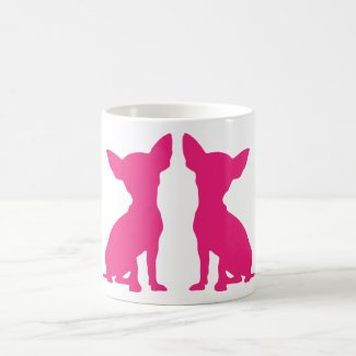 Pink Chihuahua Silhouette Mug