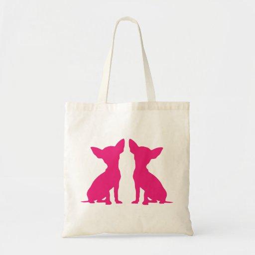 Pink Chihuahua dog cute tote bag, gift idea